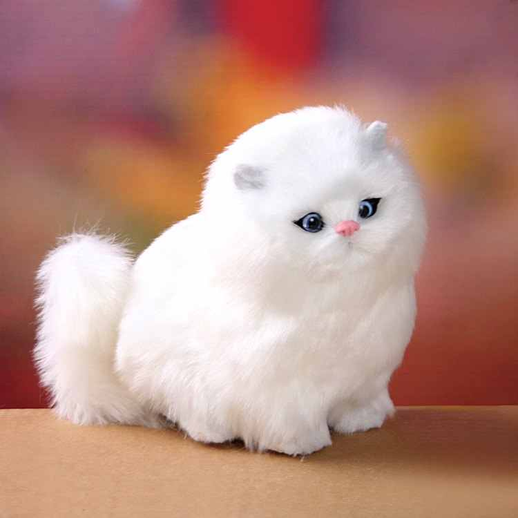 54fb69de7cf5 ... Simulation Stuffed Plush Cats Toys Soft Sounding Electric Cute Plush  Cat Doll Toys for Kids Girls ...