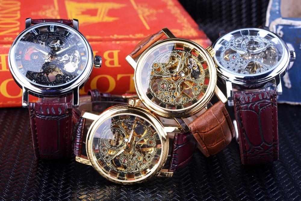 HTB1l7VcckKWBuNjy1zjq6AOypXa1 Winner Transparent Golden Case Luxury Casual Design Brown Leather Strap Mens Watches Top Brand Luxury Mechanical Skeleton Watch