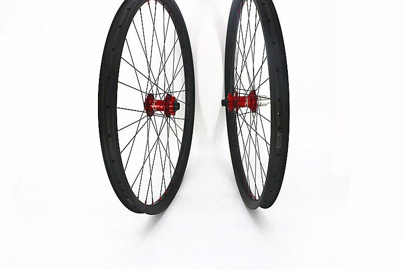 Углерода 27.5er асимметрия 40 мм 45 мм колеса горного велосипеда UD матовая 28 H 32 H горный велосипед колеса Топ надеюсь PRO4 концентраторы 100x15 мм 142x12