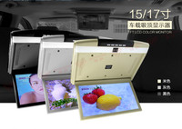 New 15.6 1920*1080 HD Car Roof Monitor Mount LCD Screen Flip Down Overhead Multimedia Video Bus Display TV HDMI/USB/SD/MP5/FM