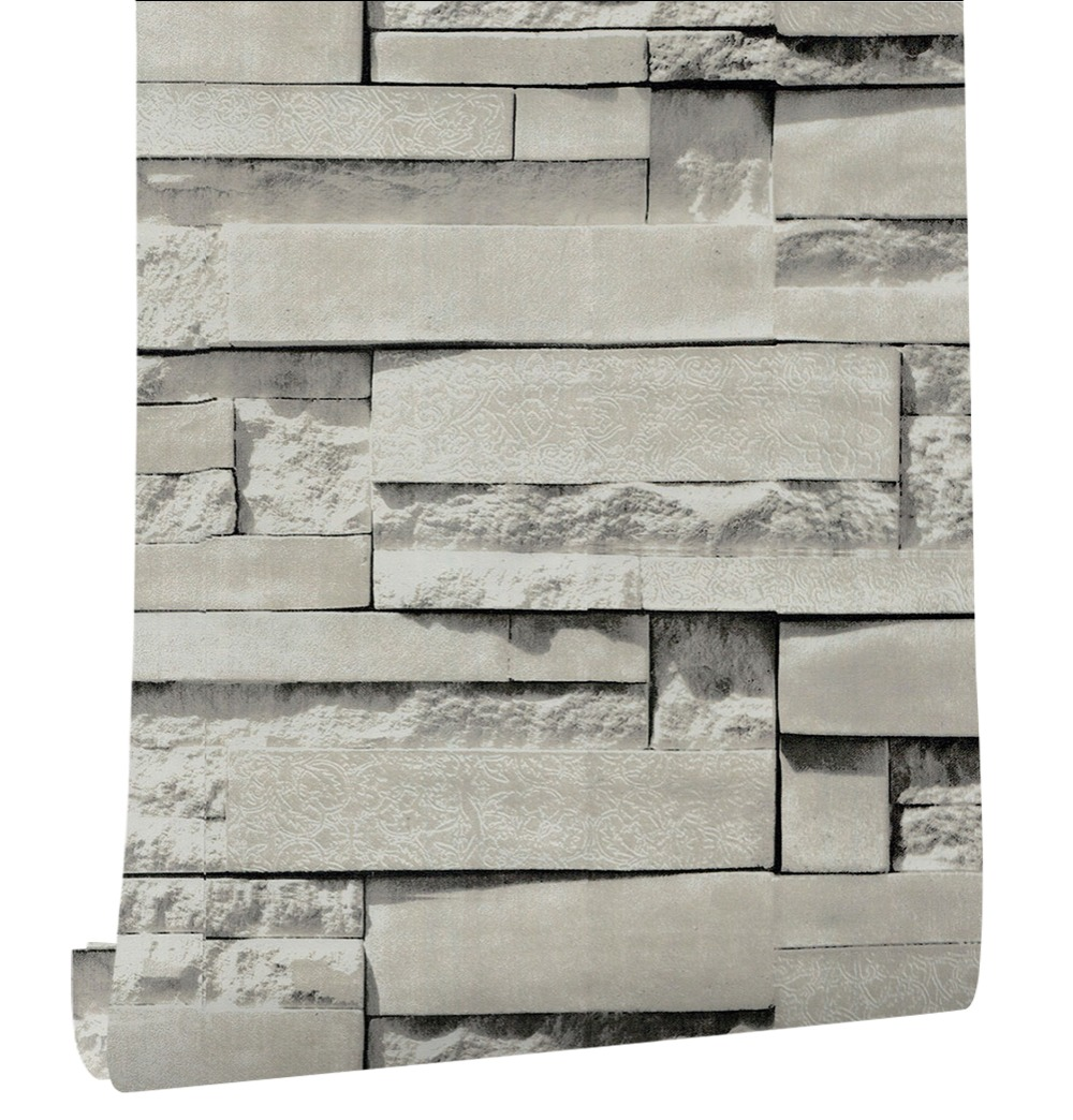 Haokhome Vintage Peel Stick Faux Brick Wallpaper For Walls 3d Self