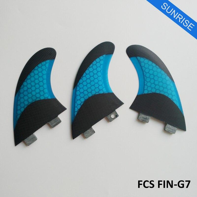 цена на Quilhas FCS G7 Fins FCS Surfboard Fin Fiberglass white yellow green blue orange Honeycomb Fins Good Quaility thruster