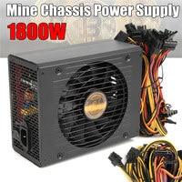 Efficiency Computer Mining Power Supply 1800W Modular PC BTC Eth Miners Power Supply SATA Port 24P