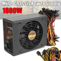 Efficiency Computer Mining Power Supply 1800W Modular PC BTC Eth Miners Power Supply SATA Port 24P