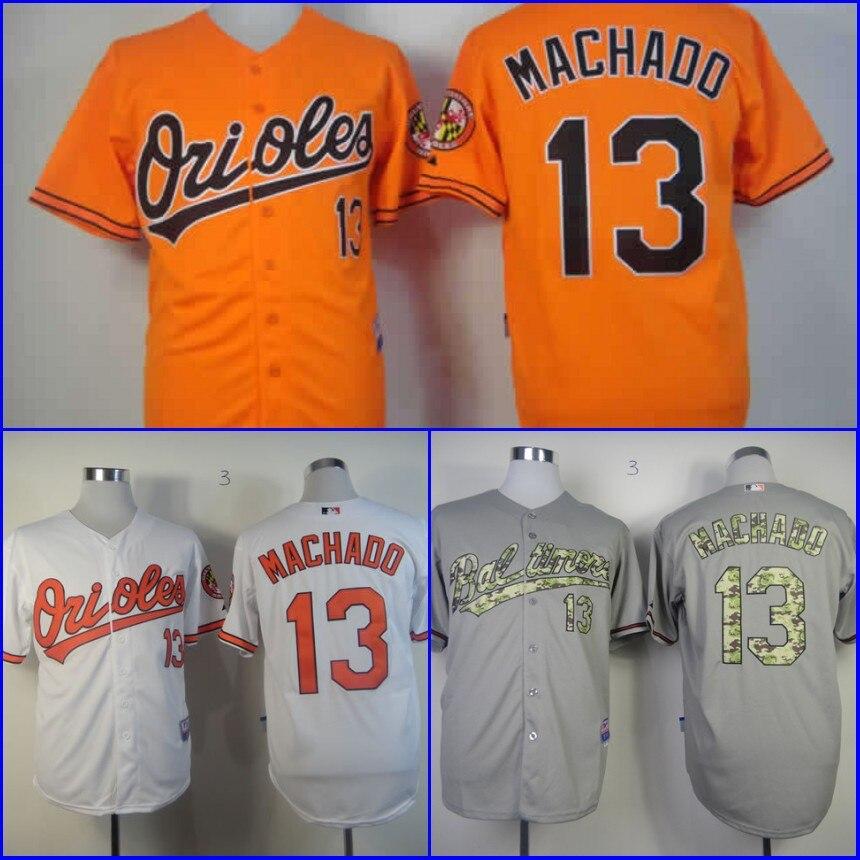 81774c6fa ... 13 Manny Machado Jersey Baltimore Orioles Jerseys Baseball Jersey White  Black Grey Orange Cream Stitched Logos ...