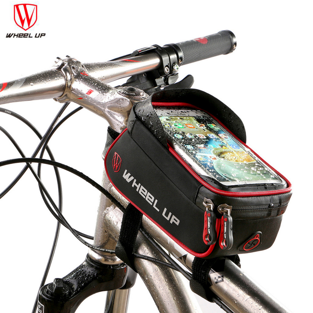INIZEAL Waterproof Bike Wallet Phone Holder 6 inch Touch Screen Bicycle Tube Smartphone GPS Bag suporte celular Dirt-proof