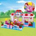243 шт. детские развивающие игрушки строительные блоки собраны творческие мелкие частицы Девушка Кафе кирпичи строительные блоки