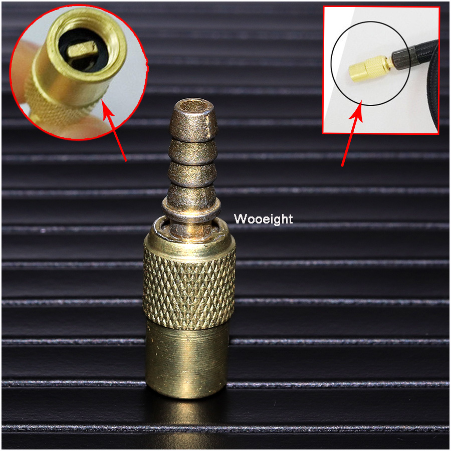 Wooeight 1 pc 아연 합금 6mm 타이어 휠 타이어 공기 척 팽창기 펌프 밸브 클립 클램프 커넥터 어댑터 자동차에 대 한