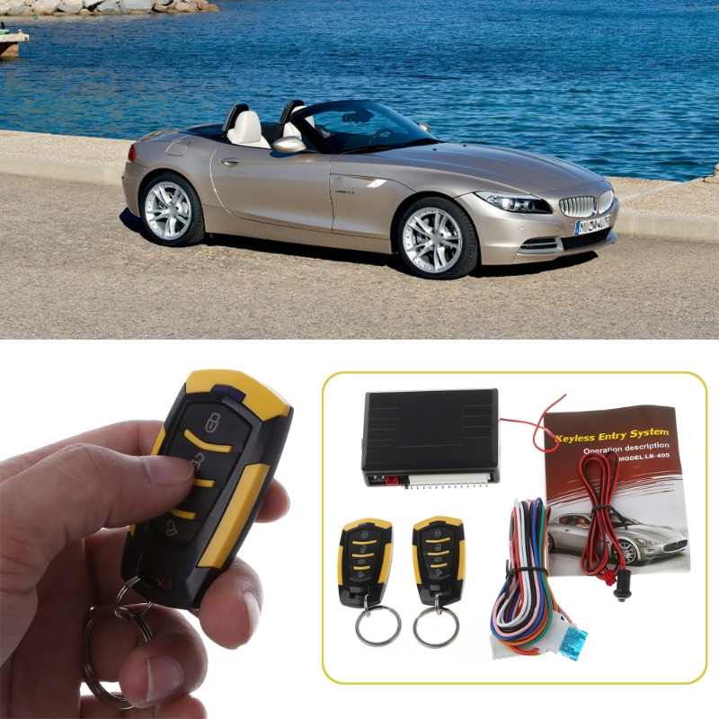 Image 5 - 12V Car Auto Alarm Remote Central Door Locking Vehicle Keyless Entry System Kit-in Burglar Alarm from Automobiles & Motorcycles