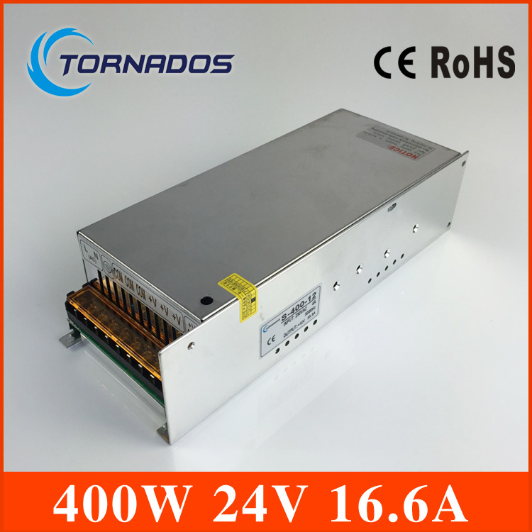 (S-400-24) 220v 24v transformer Constant voltage 400W AC to DC 24V Switching power supply 24v  LED power supply