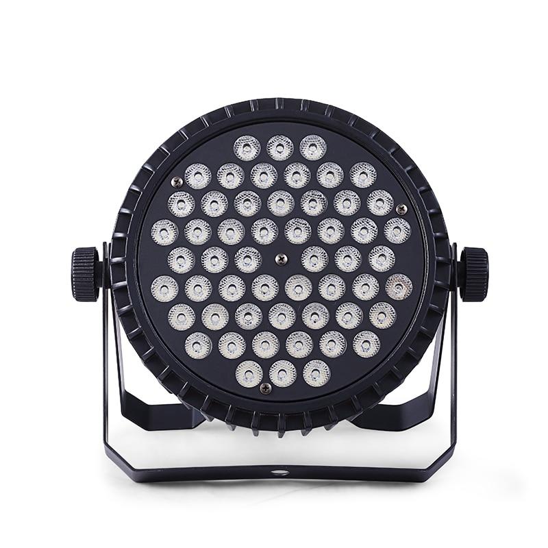 LED Par Light with 54Pcs leds 3W RGBW or RGB 3 in 1 DMX Stage Lights Professional Flat Par Can for Party KTV Disco DJ event