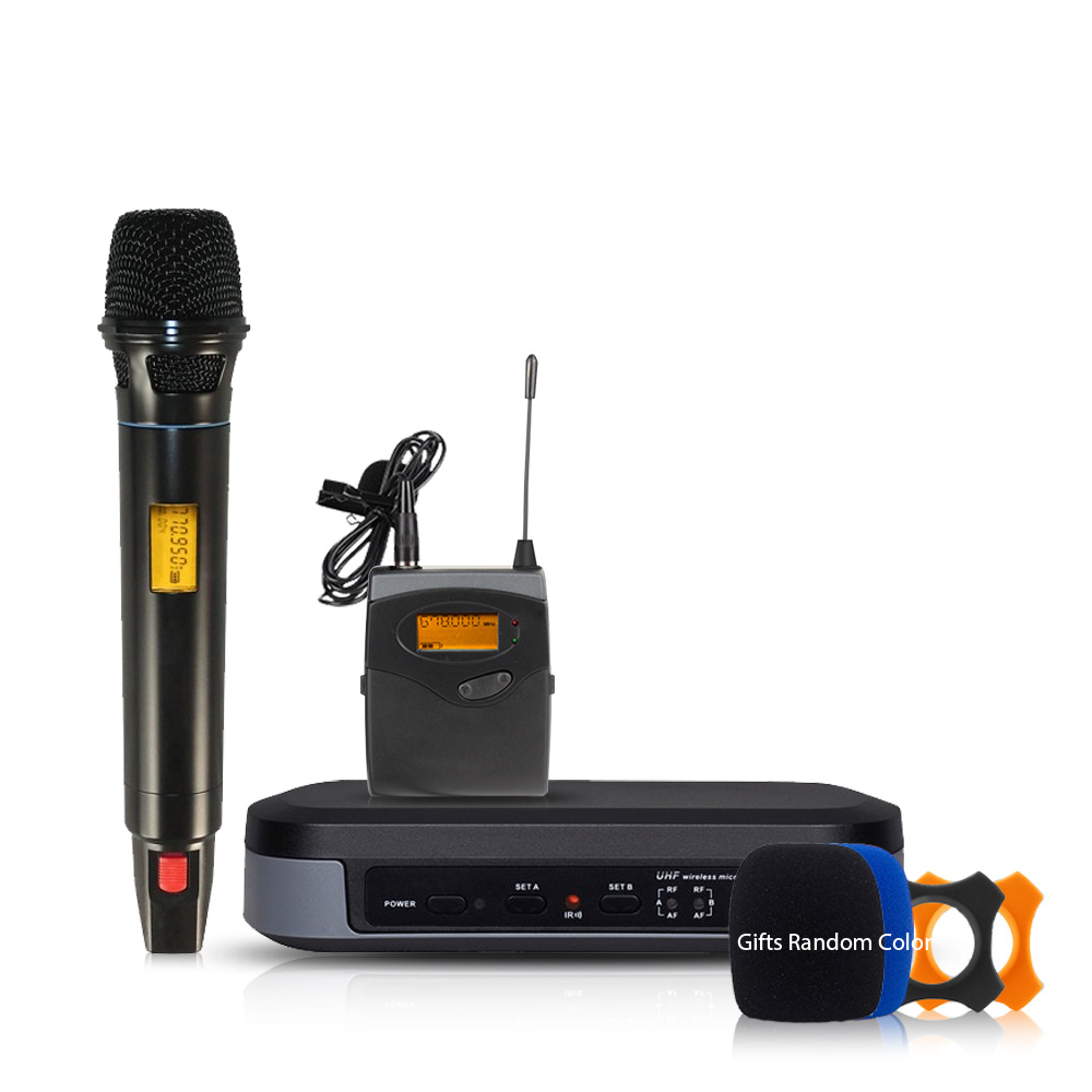 Professional wireless microphone High-end 2-channel microphone Lapel 2 Headset Automatic infrared automatic search frequency G-3 bardl us 132 2 channels uhf infrared frequency lcd 200 frequency adjustable wireless microphone handheld lavalier headset