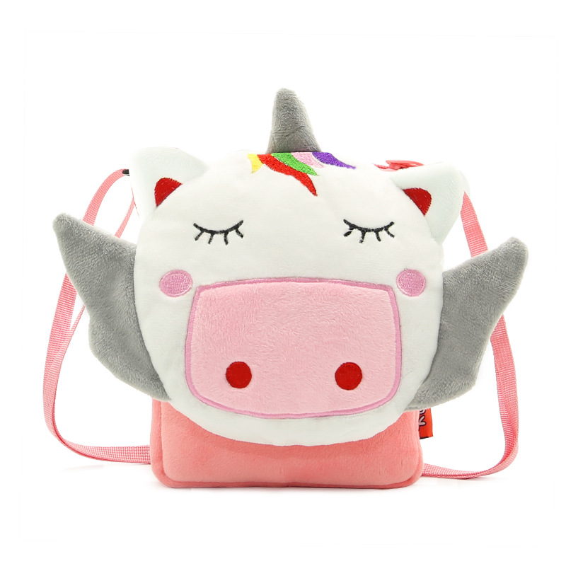 Soft Plush Unicorn Flap Bag For Baby Girls Boys Kids Shoulder Bags