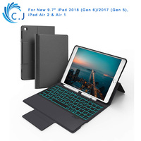 Keyboard Case Backlit for Ipad Pro 9.7 ,Ipad Air 2&1,Pencil Holder ,Keyboard Cover Built in Magnetic Stand with Auto Sleep/Wake