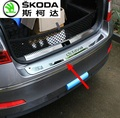 Protective Pad On The Rear Trunk Trim Lid Threshold  rear door sill car styling For Skoda Octavian  2015