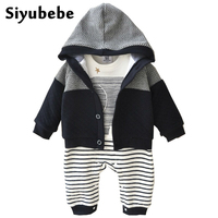 Baby Boy Clothes 2PCS Set Winter Newborn Baby Clothes Thicken Cotton Romper Coat Baby Rompers Infant