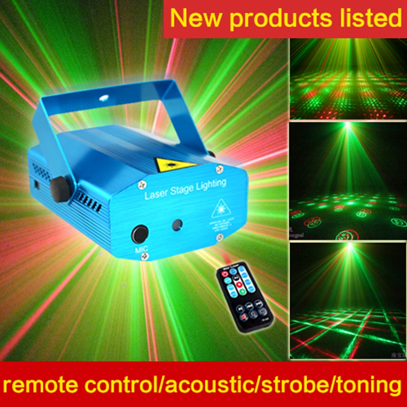 Quality goods remote control 12 in 1  acoustic control bar KTV flash Laser stage lighting disco room light mcd200 16io1 [west] quality goods