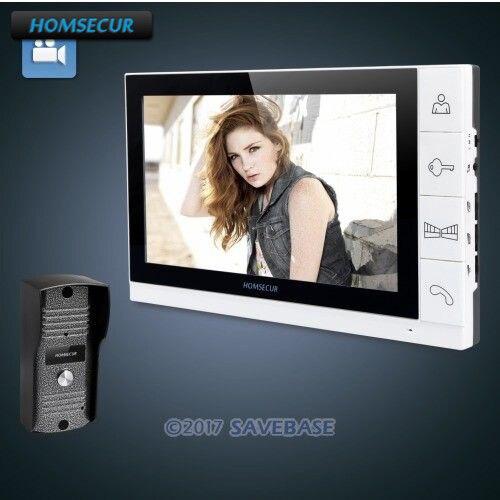 HOMSECUR 9 Проводная Видеодомофонная Система С Функцией Записи 700TVL HD Панель Вызова Н ...