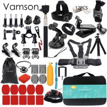 Vamson for Gopro Accessories set for go pro hero 5 4 3 kit mount for SJCAM SJ4000 / for xiaomi for yi 4k for eken h9 tripod VS84(China (Mainland))