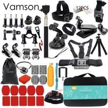 Vamson için Gopro Aksesuarları git pro hero 6 5 4 3 için set kiti montaj için SJCAM SJ4000 için/xiaomi için yi eken h9 4 k için VS84