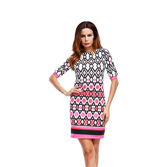 Sommer, Figurbetontes Kleid Vintage Frauen Kleid Mode Blumendruck ...