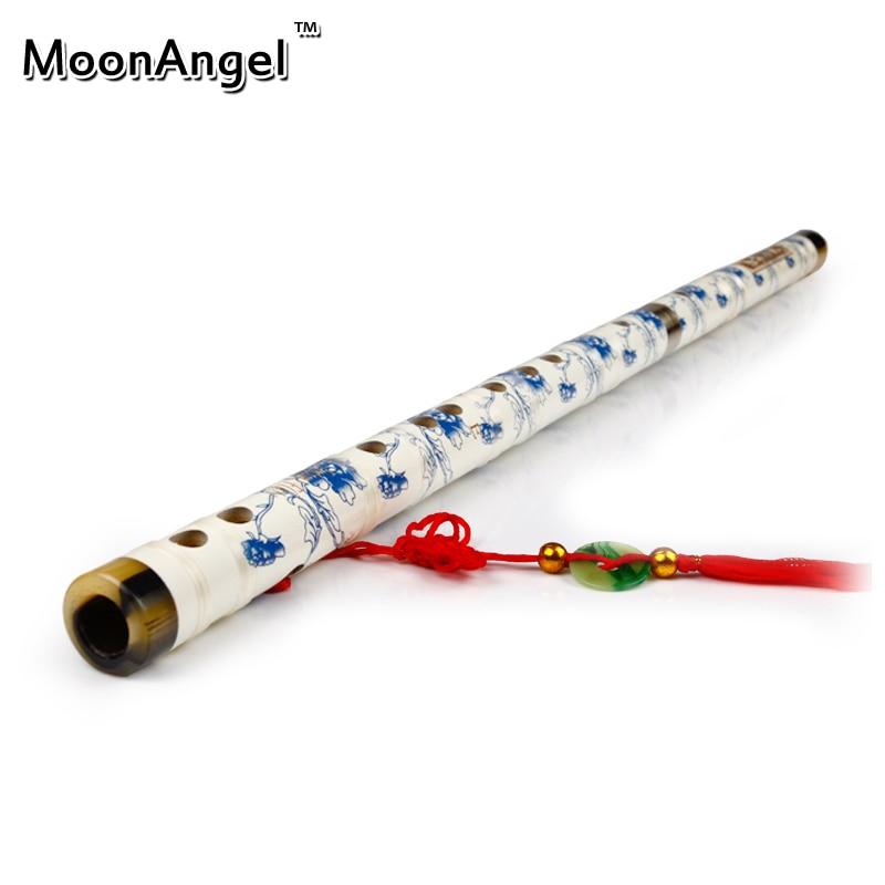 Nueva porcelana azul y blanca hecha a mano de madera de bambú chino - Instrumentos musicales
