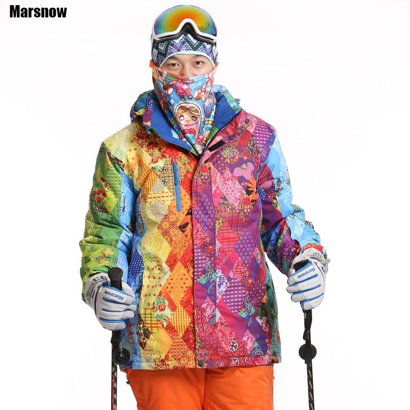 ФОТО Dropshipping new Brand snow jacket waterproof windproof thermal thicken coat 2016 hiking camping climbing winter ski jacket men