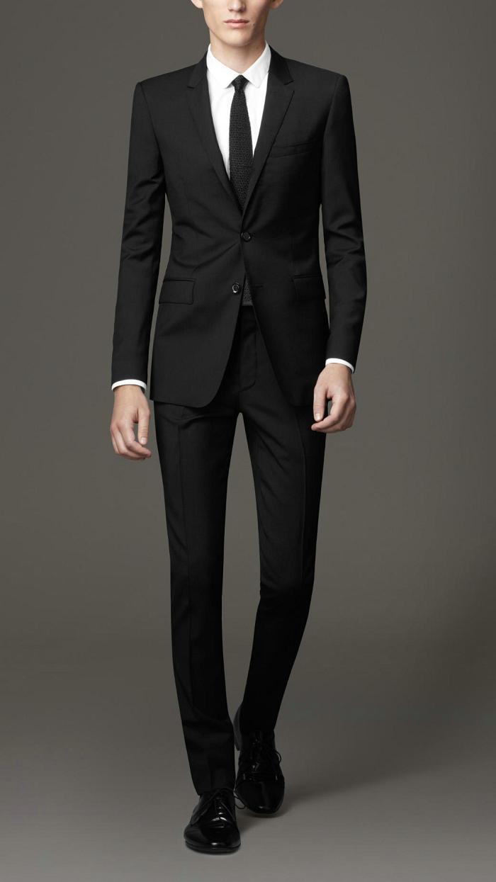 Aliexpress.com : Buy Mens black suits with pants Slim fit ...