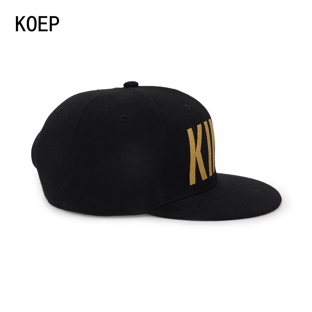 black snapback hat KOEP®-HHC-17-GK-6