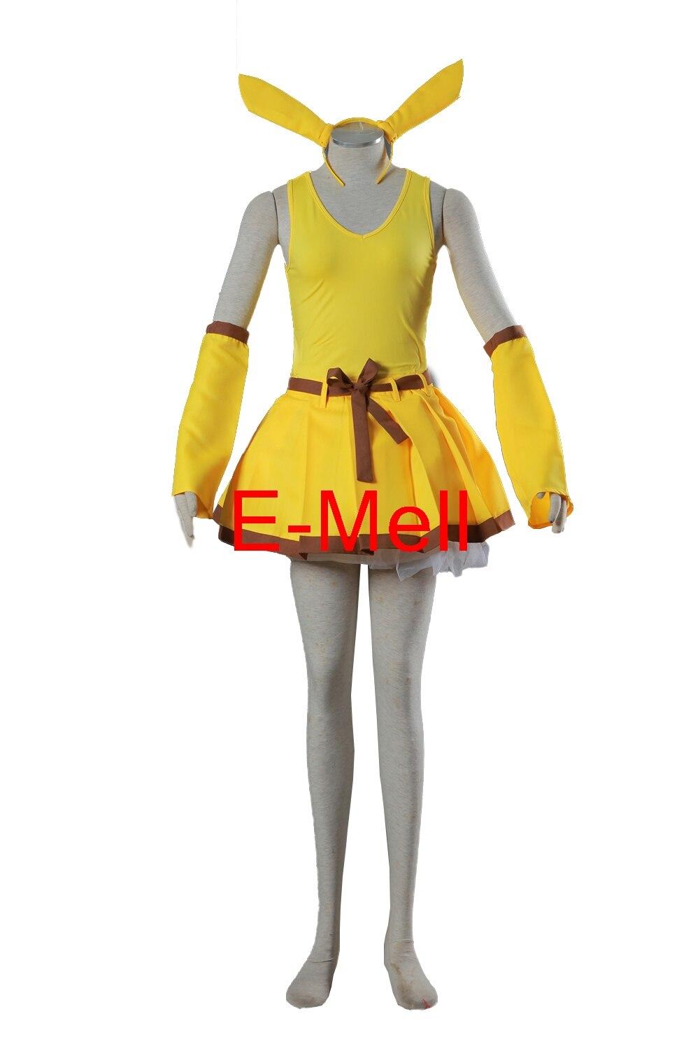 brdwn cosplay pikachu raichu costume halloween costumes women full set uniform suitchina - Pikachu Halloween Costume Women