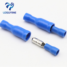 Hot 50 X Blue Male Female Bullet Connector Crimp Terminals Wiring