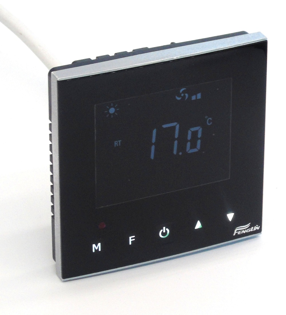 Touch 3 Speed Fan Coil Units Thermostat With Cooling Heating