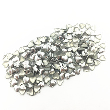 1000Pcs Silver Tone Cabochon Cameo Decoration Heart Shape Aluminum Plastic Nail Art Fashion Jewelry DIY Making Findings 4mm