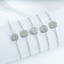 цена на Fashion letter bracelet A~Z Simple Metal Chain Design For Women As Accessories
