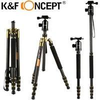 K&F CONCEPT Camera Tripod Professional 4 Sections Monopod Of Carbon Fiber For Canon Nikon Sony GoPro Fujifilm Kodak DSLR Cameras