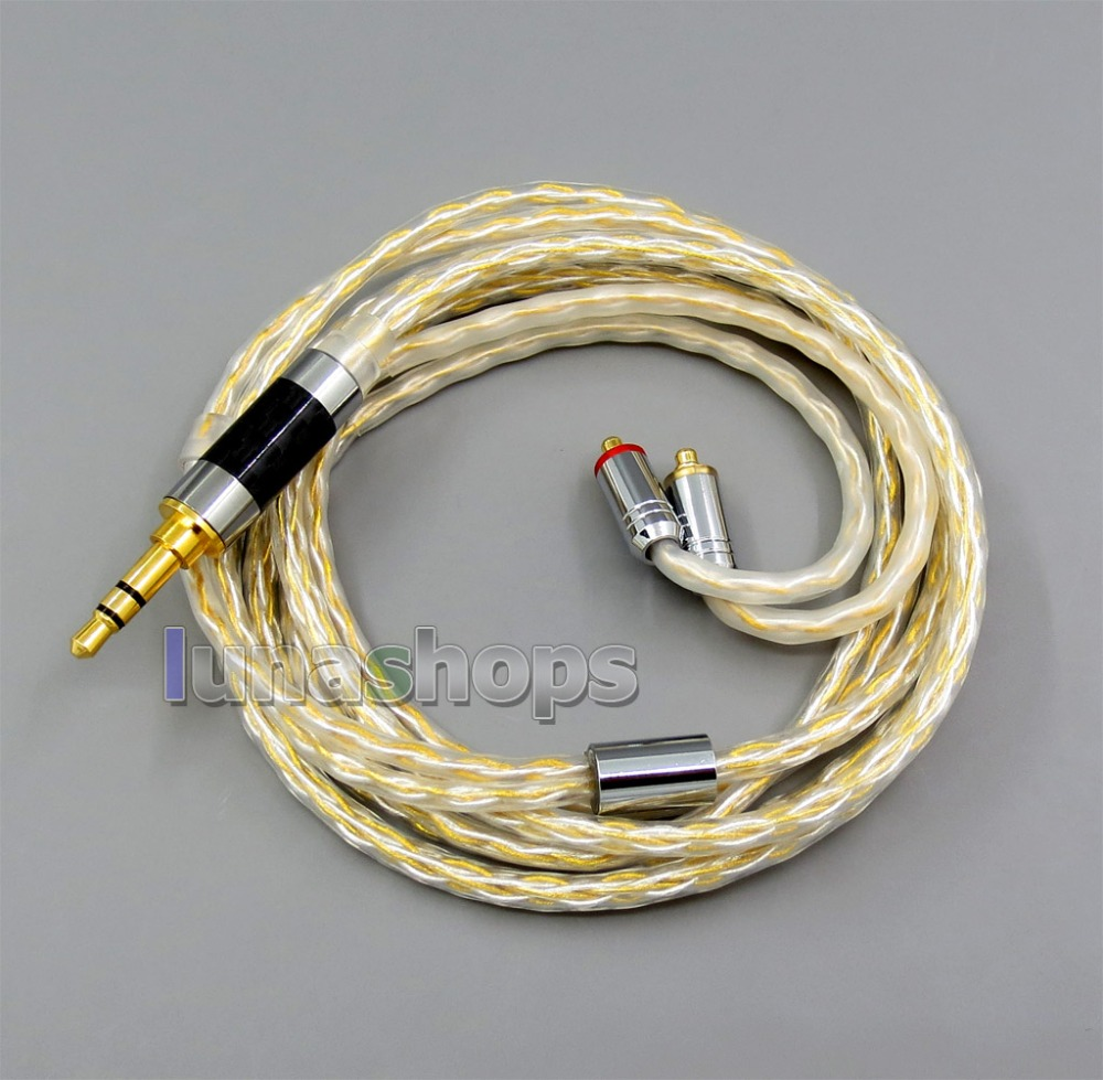 8 core 2.5mm 3.5mm 4.4mm Balanced MMCX Pure OCC silver Gold Plated Earphone Cable For Shure SE535 SE846 Se215 Custom 5 hannabach nylon classical guitar strings 600 & 800 silver plated 728 custom made 815 silver special 825 pure gold 850 psp