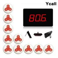 Ycall 433 92 mhz Restaurant Pager Wireless Aufruf Paging-System Tisch Glocken Anruf Taste Kunden Service K-2000A + K-O3