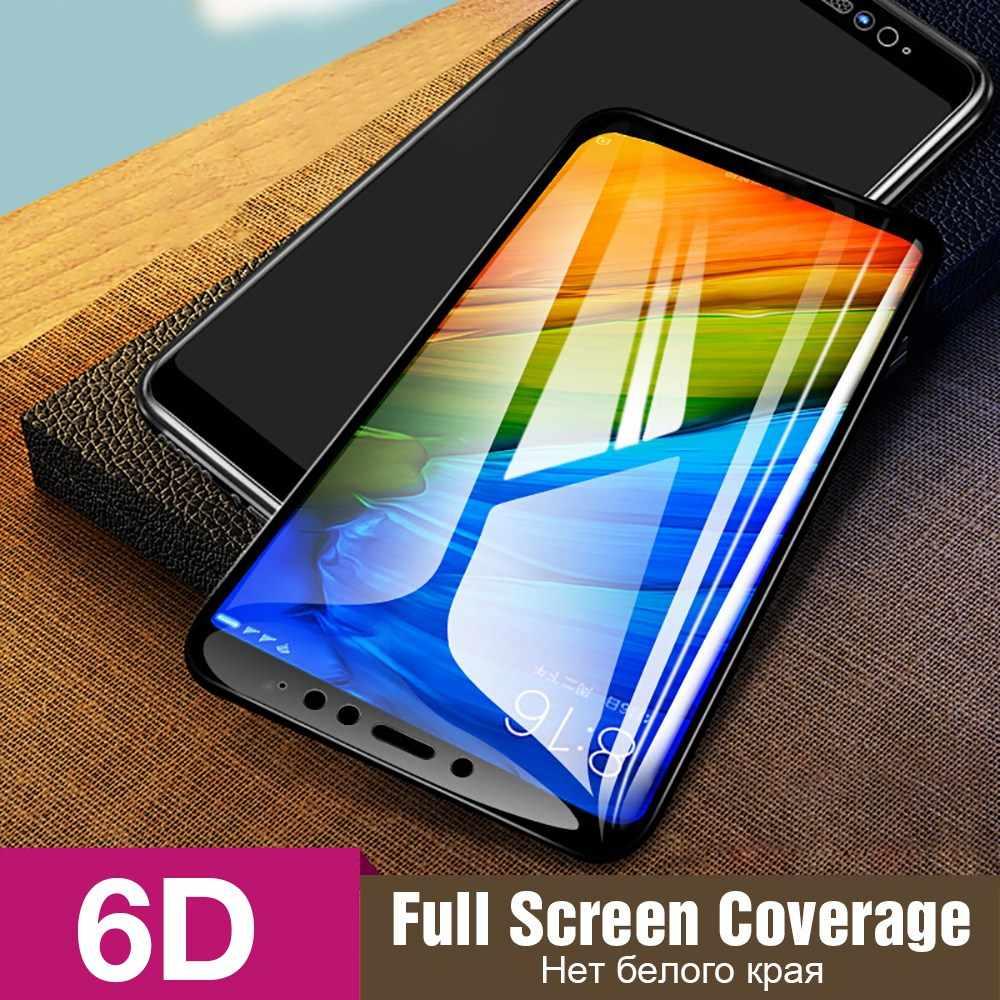 TOMKAS vidrio templado para Xiaomi Redmi 6 cubierta de vidrio Protector de pantalla 6D protectora de cristal rojo mi nota 5 Pro mi A1 6X Redmi 5 Plus