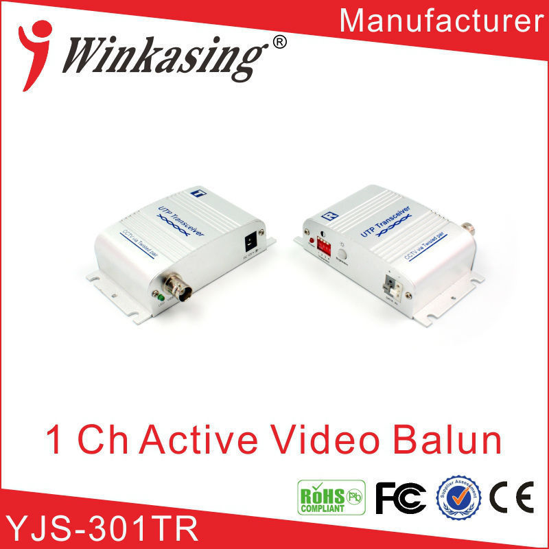 Twisted Pair utp transmitter and transceiver 1 channel Active Balun Video