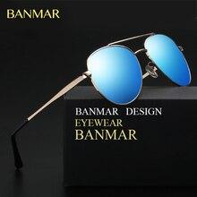 BANMAR Diseño Clásico gafas de Sol de Las Mujeres Aviador Hombres gafas de Sol Polarizadas de Metal Negro 60mm Lente Gafas de sol gafas de sol mujer BM6039
