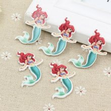 9 Styles Planar Resin Mermaid Princess Charms For SLIME Rubber Band Hairpin Brooch Phone Decoration Jewelry(China)