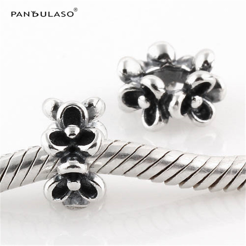 Guaranteed 100% 925 Silver Jewelry Fashion Charms Garland Beads Hot Sale Fits Silver Charms Bracelet For Women DIY Jewelry