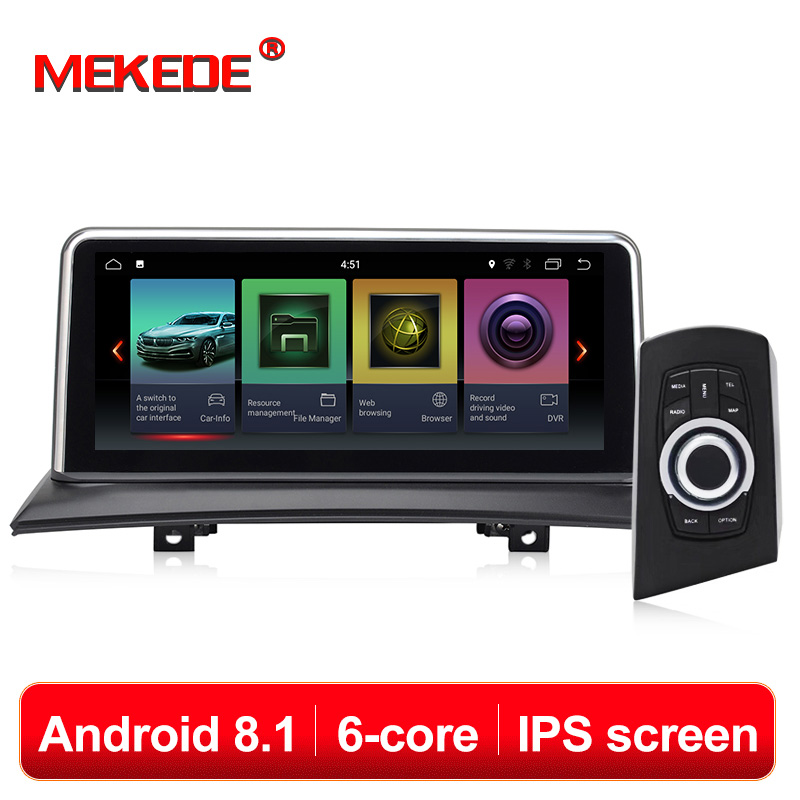 IPS Tela Android 8.1 2 MEKEDE + X3 E83 32G Navi Do GPS Do Carro Tela Para BMW 2003-2009 gravador multimídia BT WIFI Google 2 + 32G RAM