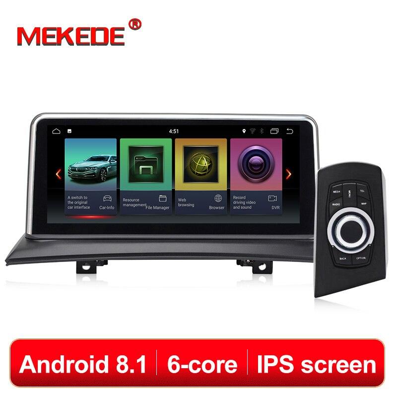 MEKEDE IPS écran Android 8.1 2 + 32G voiture GPS Navi écran pour BMW X3 E83 2003-2009 enregistreur multimédia BT WIFI Google 2 + 32G RAM