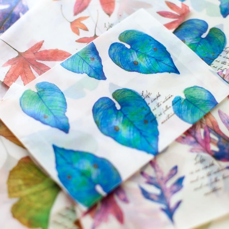 4pcs/set Kawaii Leaf Envelopes Sulfuric Paper Matte Translucent Envelope For Letter Paper Postcard Cute Stationery Gifts