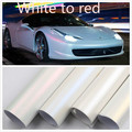 60CM *152CM Car change color film Car film White to red Vinyl Wrap With Air Bubble Free PearlescentBright white car film