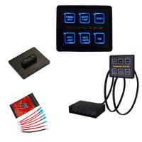 2017 12V 24V 6 Gang LED Switch Panel Slim Touch Control Panel Box For Car Marine