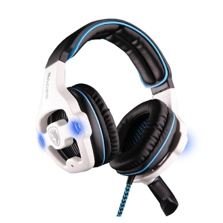 Sades SA-903 7.1 Surround Sound channel USB Gaming Headset Wired Headphone with Mic Volume Control Noise Cancelling Mic Earphone (9)