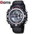 OTS Moda Deportes Marca Los Hombres del Reloj Digital a prueba de Golpes Digital relojes de Alarma Al Aire Libre Militar LED Relojes Casuales Caliente