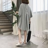 Korean 2019 Summer Big Size T Shirt Cotton Casual Women Shirt Top Retro Shirts Cotton Women
